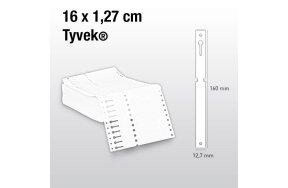 LOOP LOCK PLANT LABELS TYVEK 16x1,27cm WHITE SET/250pcs